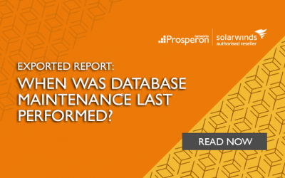Exported Report: When Was Database Maintenance Last Performed?