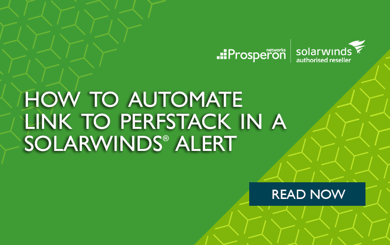 How to Automate Link to PerfStack in a SolarWinds Alert