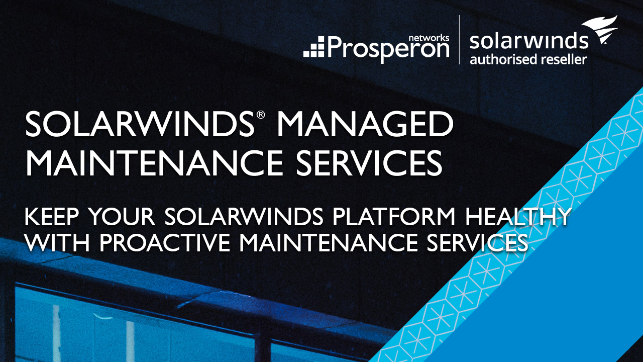 SolarWinds Deployment Services (Video Slate) - Prosperon Networks