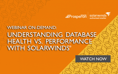 Webinar On-Demand: Understanding Database Health Vs. Performance with SolarWinds