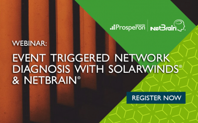 Event Triggered Network Diagnosis with SolarWinds & NetBrain